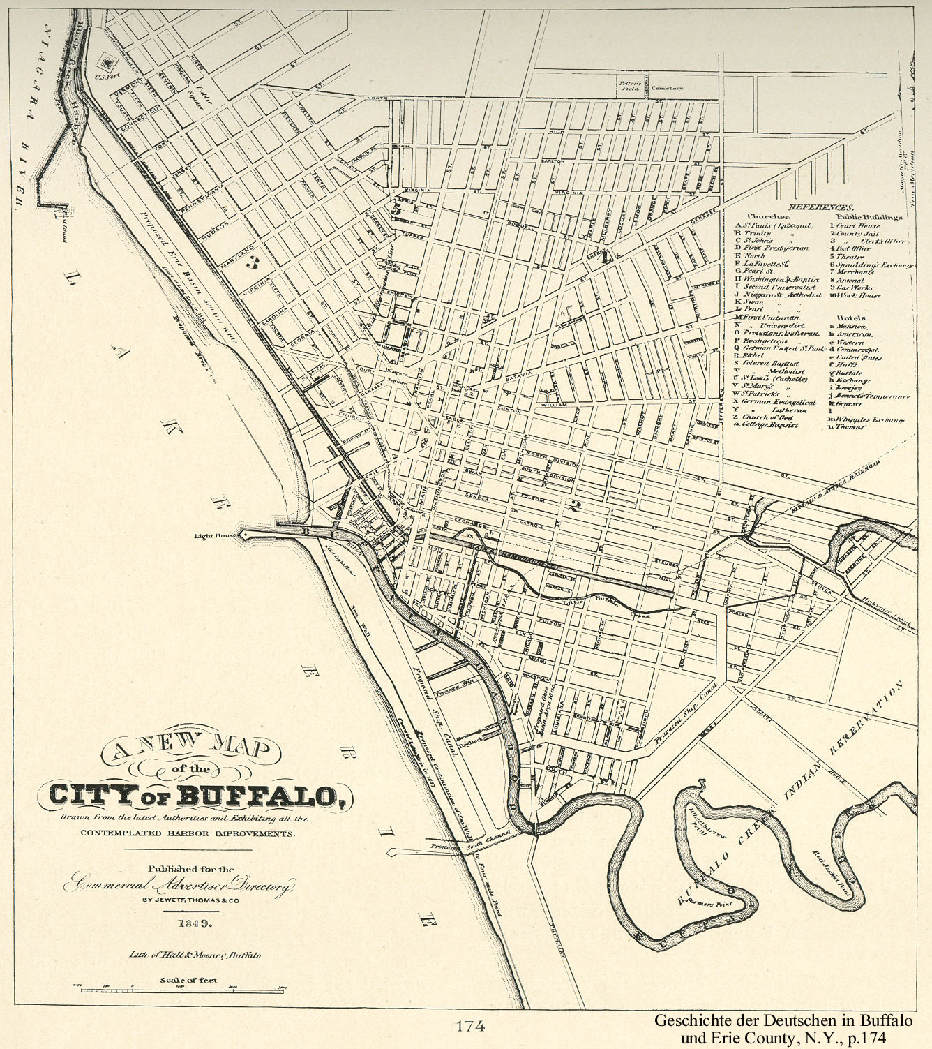 BuffaloResearchcomHistoric Maps Of Buffalo Erie - New york city map drawing